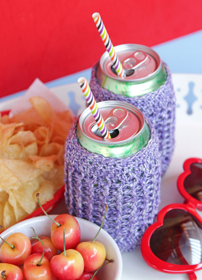 Ribbed Can Koozies