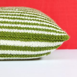 Mod Maze Pillow in the new issue of I Like Knitting!