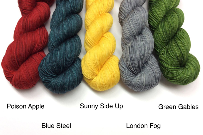 Leading Men FIber Arts' Soliloquy yarn colorways available for Read Along Knit Along preorders.