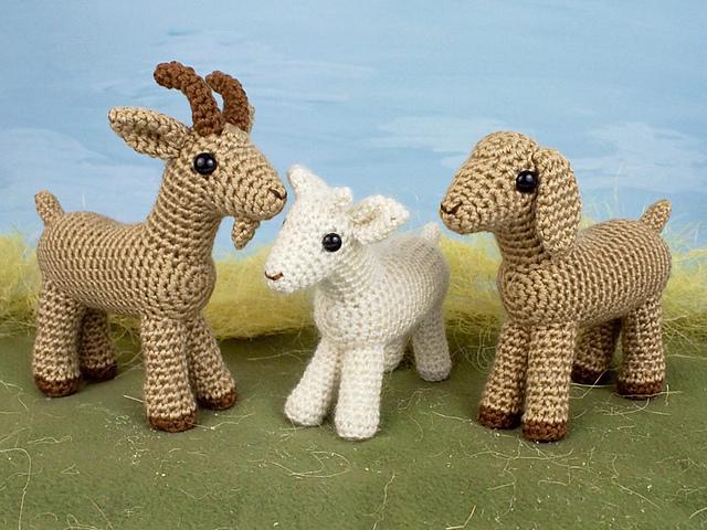 Farmyard Goats by June Gilbank