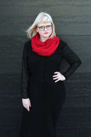 The Scarf of Dreams knitting pattern by Heidi Gustad, inspired by The Night Circus