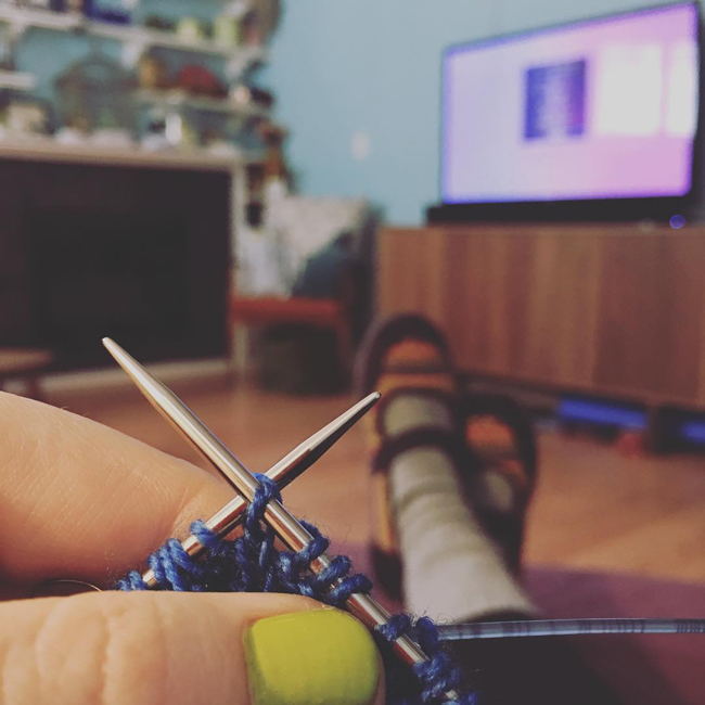 Knitflix on Hands Occupied - let us know your favorite movies, tv shows, audiobooks & podcasts to binge while knitting or crocheting!