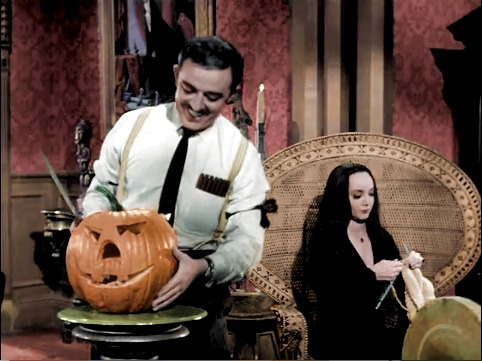 Knitting in the Addams Family