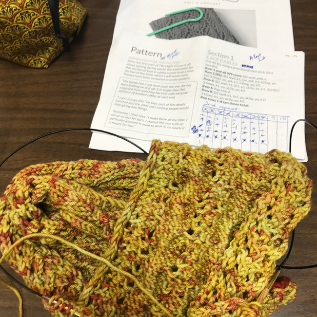 The Scarf of Dreams WIP @hpknittingguild