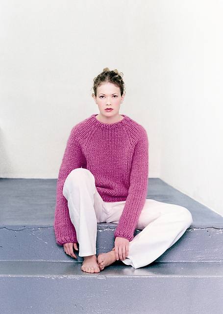 Pink Plain Icelandic Sweater by Ístex Yarn