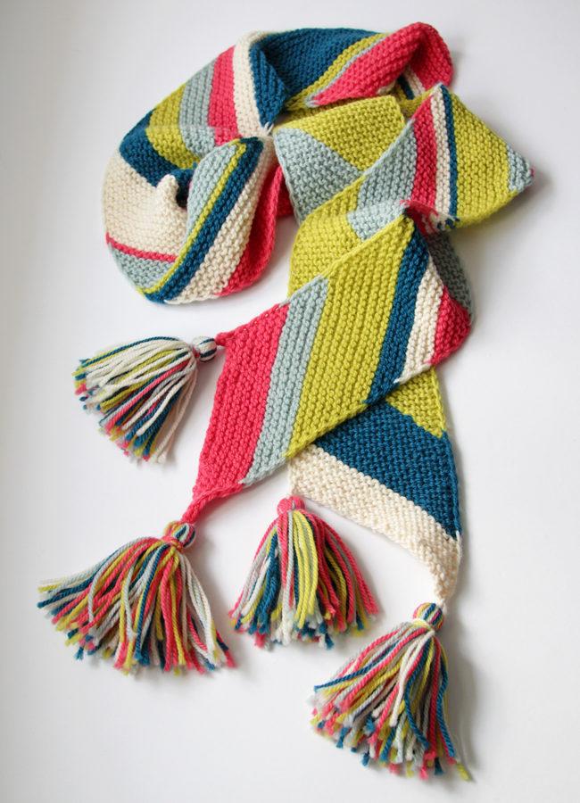 Big Old Bias Knit Scarf