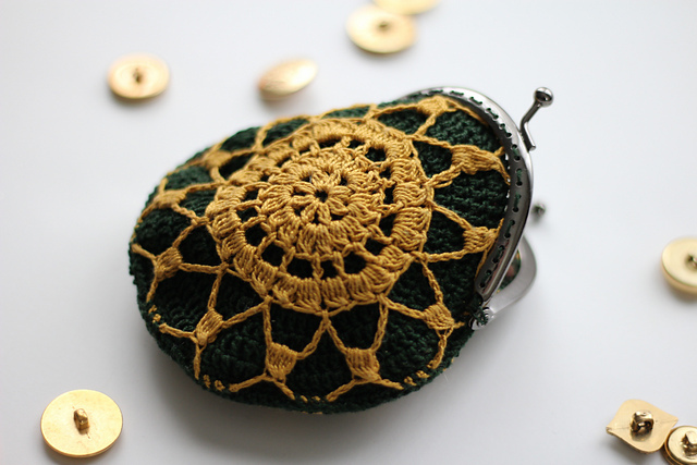 Jade & Gold Coin Purse by Lee Sartori