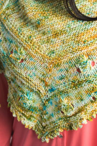 Pineapple Shawl by Heidi Gustad, I Like Knitting magazine, April 2018