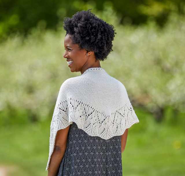 Ansonia Shawl pattern by Tian Connaughton fromVacation Knits Vol. 2